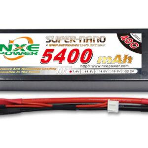 Li-Po batteri 7,4 volt 2 celler hardcase 5400